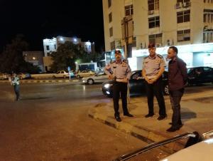 مدير السير يشرف على العملية المرورية في وقفة العيد