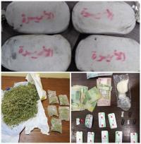 الأمن يكشف احباط تهريب مخدرات في 6 محافظات