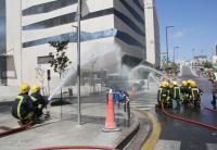 الدفاع المدني ينفذ تمريناً لحادث وهمي على فندق دبليو (W)