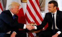 ترامب وماكرون متفقان على مواجهة أنشطة حزب الله وإيران