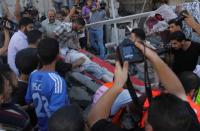 ارتفاع حصيلة عدد مصابي قطاع غزة الى 115