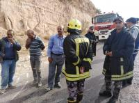 انهيار على طريق عمان اربد - صور