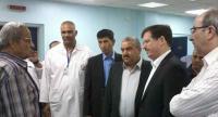 وزير الصحة يزور مستشفى الأميرة بسمة وقت الافطار