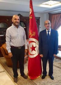 النائب خوري يزور السفارة التونسية بعمان ويقدم التهاني بانتخاب سعيد
