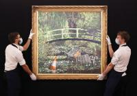 بيع لوحة للفنان بانكسي بـ9.9 مليون دولار