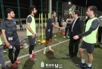 أبو رمان يحث الوحدات على تشريف الكرة الأردنية آسيويًا