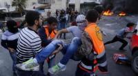 اصابة عشرات الفلسطينيين في اشتباكات بنابلس