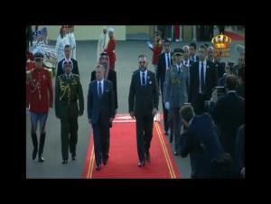 مراسم استقبال رسمية لجلالة الملك عبدالله الثاني في المغرب
