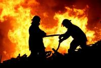 اصاباتان بحريق مطعم في الجويدة