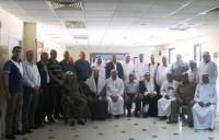 وفد من شيوخ غزة يزور المستشفى الميداني الأردني