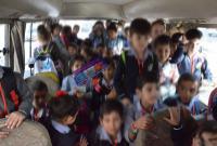 اربد:  45 طفل بحافلة مدرسية خاصة (صور)