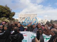 نقل مشارك باعتصام المتقاعدين للمستشفى