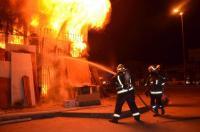إخماد حريق منزل بالزرقاء