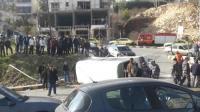 تدهور حافلة في وادي عبدون -صور