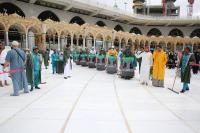 السعودية: تعقيم الحرم المكي 4 مرات يوميا