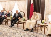 أمير قطر يستقبل سلامة حمّاد