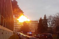 انفجار يهز جامعة ليون الفرنسية - فيديو