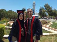 """أحمد وروان ..  أب وابنته يتخرجان من """"مؤتة"""" في يوم واحد"""