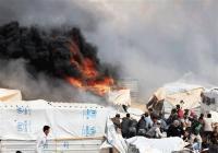 حريق (كرفان) في الزعتري
