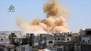 الرمثا تستقبل العيد بأصوات انفجارات درعا