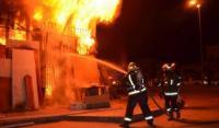 إصابة 5 أشخاص إثر حريق نشب في منزل بشرق عمان
