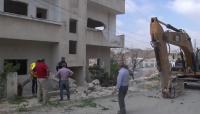 هدم 3 منازل في إربد لفتح طريق رئيسي