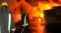 اخماد حريق مستودع في عمّان