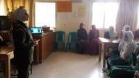 محاضرة طبية في مدرسة أم شريك الأنصارية