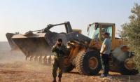 الاحتلال يهدم خزان مياه شرق طوباس