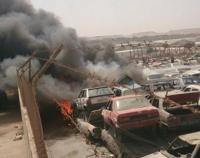 """اخماد حريق """"سكراب"""" في عمان"""