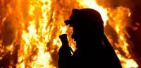 مواطن عربي يحرق زوجته
