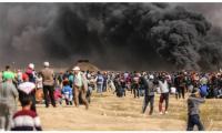 استشهاد فلسطيني واصابة 11 اخرين برصاص الاحتلال