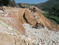 سقوط عامل بمنطقة الإنهيارات في جرش