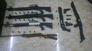 ضبط  أسلحة نارية في اربد وعجلون