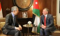 الملك يستقبل نائب رئيس الوزراء السنغافوري