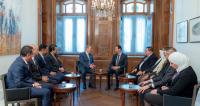 الأسد ينظر بتفاؤل لمستقبل العلاقات مع الأردن