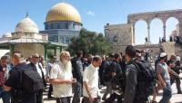 مستوطنون يقتحمون ساحات الحرم القدسي الشريف