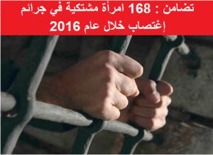 168 امرأة اشتكين من إلاغتصاب