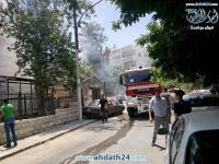 حريق ضخم في حديقة العبدلي - صور