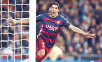 سواريز يحتفل بمئويته مع برشلونة بشكل مثالي