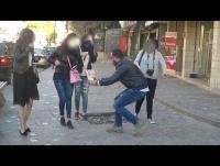 مقلب رمي القهوة على الناس-فيديو