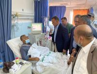 جابر يتفقد واقع الخدمات الصحية بمستشفى الأميرة راية
