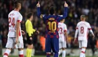 هاتريك ميسي أمام مايوركا يعيد برشلونة للصدارة