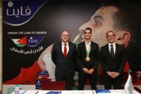 """""""فاين"""" تحتفي مع البطل الأولمبي أحمد أبو غوش"""