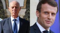 سعيد وماكرون يتوافقان على ضرورة إشراك تونس بنقاشات ليبيا