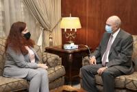 الفايز يلتقي السفيرة الأوكرانية