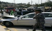 حادث الدبلوماسيين السعوديين بسبب مركبة للسفارة البحرينية