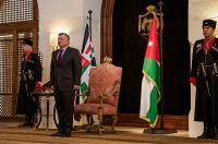 الغزو يؤدي اليمين القانونية أمام الملك بتعيينه رئيسا لمحكمة التمييز