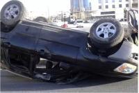 سقوط سيارة عن جسر (المية) في الزرقاء