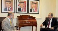 الصفدي يلتقي وزير شؤون السلام  بريطاني